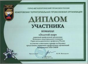 Диплом Золотой шар (1)